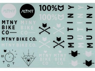 "Mutiny Bikes ""Sheet"" Stickerset"