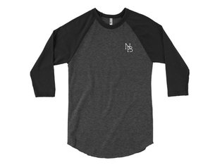 "Nuts & Bolts ""NB"" 3/4 Longsleeve - Heather Black/Black"