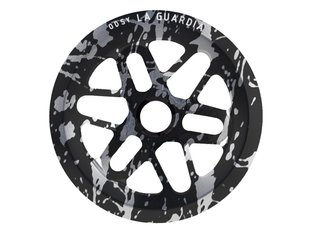 "Odyssey BMX ""La Guardia Limited Edition"" Sprocket - Black w/Silver Splatter"
