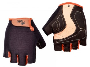 "Pedal Palms ""Black N Tan"" Short Finger Gloves"