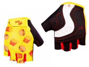 "Pedal Palms ""Burgers"" Short Finger Gloves"