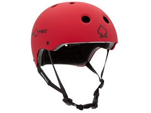 "ProTec ""Classic Certified"" Helm - Matt Red"