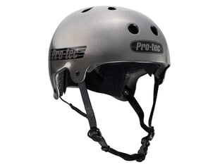 "ProTec ""Old School Certified"" Helmet - Metallic Gunmetal"