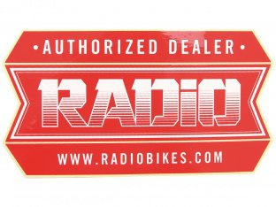 "Radio Bikes ""Authorized Dealer"" Sticker"