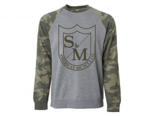 "S&M Bikes ""Big Shield Sweater"" Pullover - Grey/Camo"