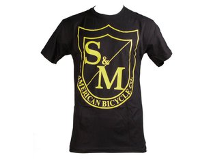 "S&M Bikes ""Big Shield"" T-Shirt - Black/Yellow"