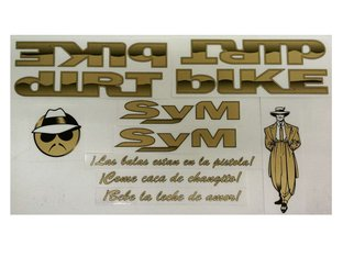 "S&M Bikes ""Dirt Bike Lowrider"" Stickerset"
