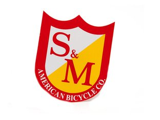 "S&M Bikes ""Small Shield"" Sticker"