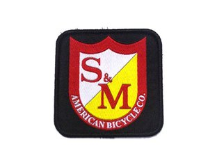 "S&M Bikes ""Square Shield"" Aufnäher"