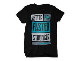 "Stay Strong ""BFS"" T-Shirt - Black/Teal"