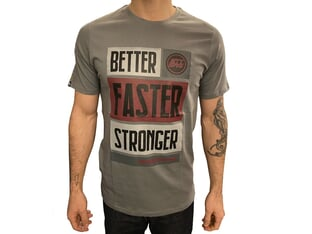"Stay Strong ""BFS"" T-Shirt - Charcoal/Maroon"