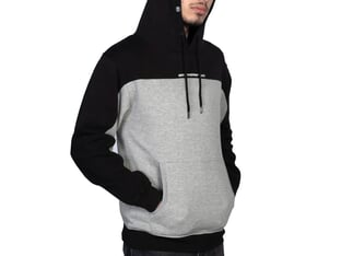 "Stay Strong ""Cut Off"" Hooded Pullover - Black/Grey"