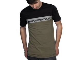 "Stay Strong ""Cut Off"" T-Shirt - Army Green"