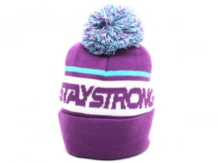 "Stay Strong ""Faster Bobble"" Beanie  - Purple/Blue"