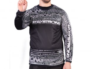 "Stay Strong ""Mash Up Jersey"" Longsleeve - Grey"