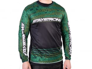 "Stay Strong ""Mash Up Jersey"" Longsleeve - Green"