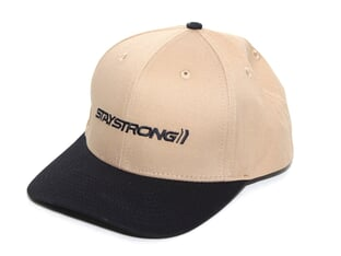 "Stay Strong ""Staple Snapback"" Cap - Black/Tan"