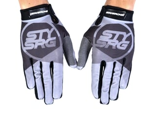 "Stay Strong ""Tricolour"" Gloves - Grey"