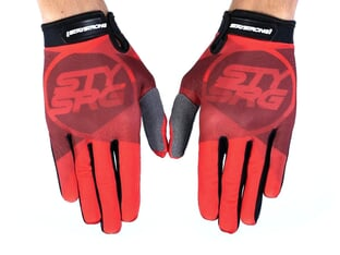 "Stay Strong ""Tricolour"" Gloves - Red"