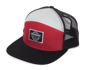 "Stay Strong ""Worldwide"" Trucker Cap - Black/Red"