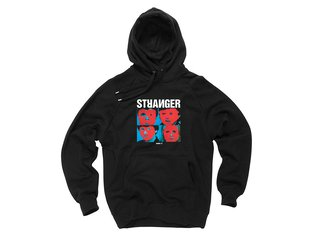 "Stranger ""Heads"" Hooded Pullover - Black"