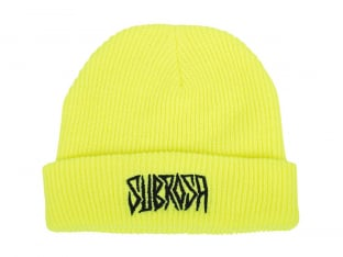 "Subrosa Bikes ""Carved"" Beanie - Neon Yellow"