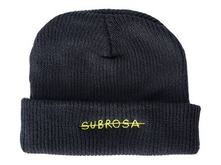 "Subrosa Bikes ""Crossed"" Beanie Mütze - Black/Yellow"