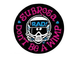 "Subrosa Bikes x Radical Rick ""No Wimps"" Sticker"
