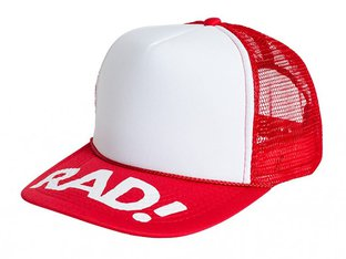 "Subrosa Bikes x Radical Rick ""RAD Trucker"" Kappe - Red/White"