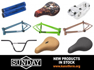 Sunday Bikes 2018 BMX Parts - arrived!