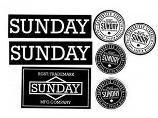 "Sunday Bikes ""Black/White"" Stickerset"