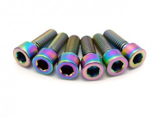 "TLC Bikes ""Profile/Madera Titanium"" Stem Bolt Set - Oil Slick"