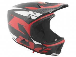 "TSG ""Advance Carbon Graphic Design"" Fullface Helm - Red-White"