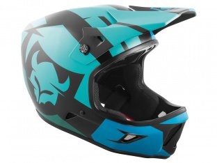 "TSG ""Advance Graphic Design"" Fullface Helm - Interval-Green-Blue"