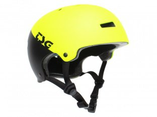 "TSG ""Evolution Youth Graphic Design"" Helm - Divided Acid Yellow/Black"