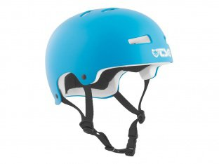 "TSG ""Evolution Youth Solid Color"" Helm - Satin Dark Cyan / White EPS"