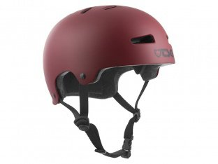 "TSG ""Evolution Youth Solid Color"" Helm - Satin Oxblood"