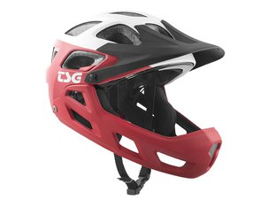 "TSG ""Seek Youth FR Graphic Design"" Helm - Block Red-White"
