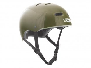 "TSG ""Skate/BMX Solid Colors"" Helmet - Injected Olive"