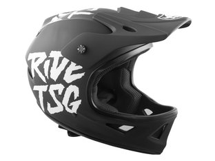"TSG ""Squad Graphic Design"" Fullface Helm - Ripped Black"