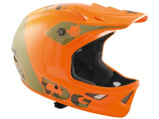 "TSG ""Squad Graphic Design"" Fullface Helm - Trap Acid Orange"