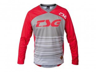 "TSG ""TP2 Jersey"" Longsleeve - Red/Grey"
