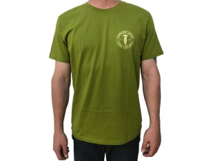 "Tempered Bikes ""Enjoy This"" T-Shirt - Olive Green"