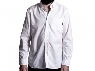 "The Fella BMX ""Oxford"" Hemd - White"