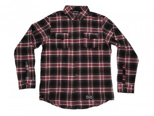 "The Trip ""LS Button-Up"" Hemd - Black/Red Flannel"