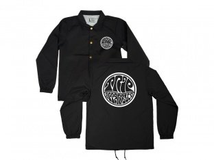 "The Trip ""Psych"" Windbreaker Jacket - Black"