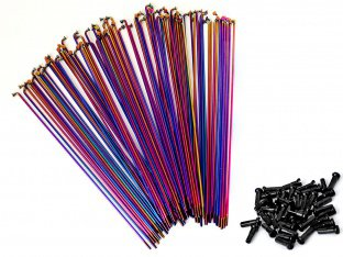 "Total BMX ""Tech Double Butted"" Spokes - Oil Slick (40 pc)"