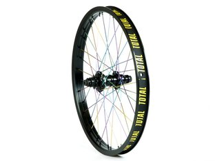 "Total BMX ""Techfire SDS Cassette"" Hinterrad - Black/Oilslick"