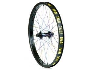 "Total BMX ""Techfire"" Front Wheel - Black/Oil Slick"