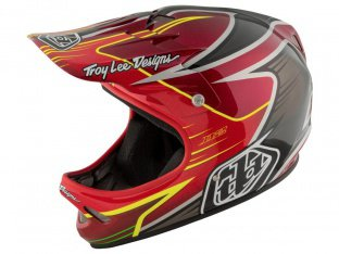 "Troy Lee Designs ""D2"" Fullface Helm - Pulse Red"